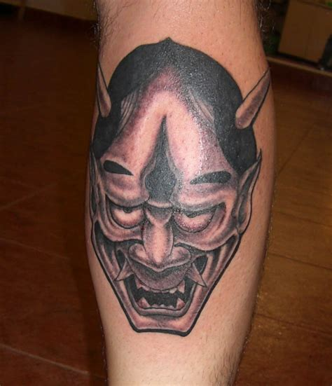 hannya mask tattoo and meaning mask tattoos
