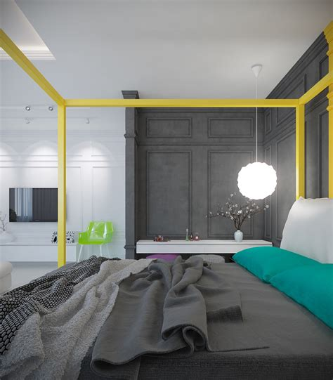 bright colour interior design a pair of modern homes with distinctively bright color themes