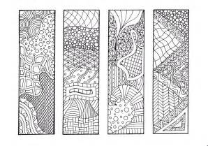 bookmarks to color zentangle inspired printable coloring bookmarks 12 unique