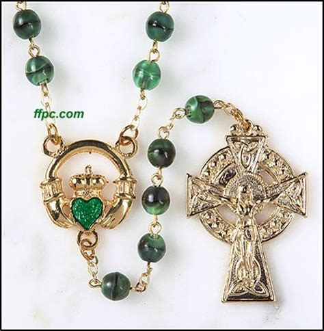 celtic cross with rosary celtic cross rosary findgift