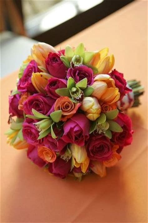Bright Wedding Flower Picture by Bright And Colorful Flowers Wedding Bouquet Picture Jpg