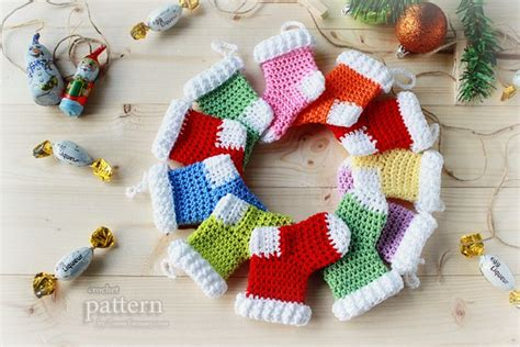 crochet pattern by zoom yummy com new pattern crochet christmas stocking ornaments