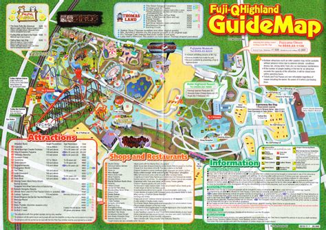 cool japan guide in the land of lucky cats and ramen fuji q highland 2011 park map