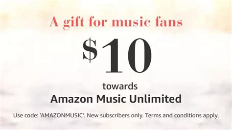 amazon mp3 downloads coupon is giving new unlimited subscribers a free 10 credit aftvnews