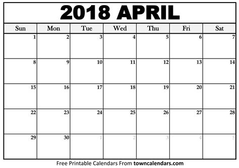 april 2018 calendar printable template with holidays pdf