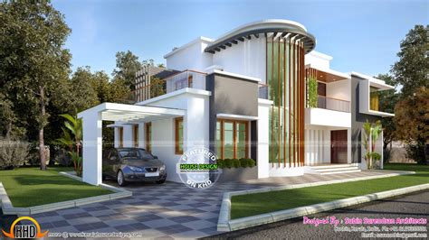 modern villa design new modern villa plan kerala home design and floor plans