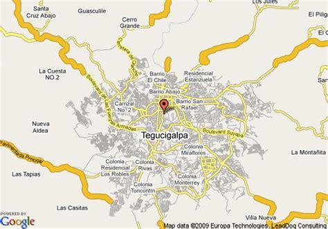 tegucigalpa honduras map