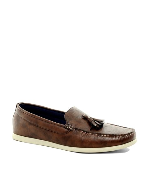 tassel loafers in river island tassel loafers in brown for lyst