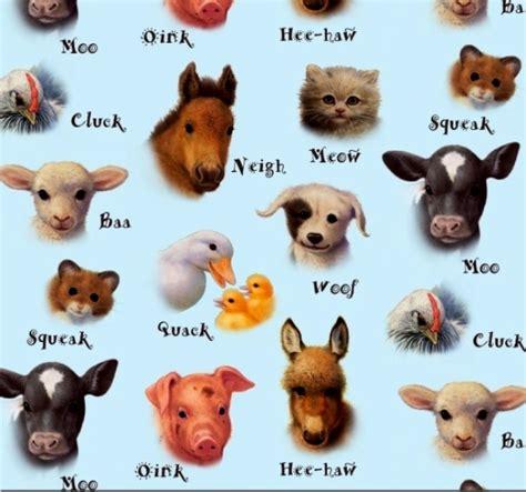 animal sounds cotton fabric animal fabric animal friends baby farm