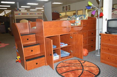 Captain Bunk Beds Berg Furniture Collection Captain S Bed With Cabinet