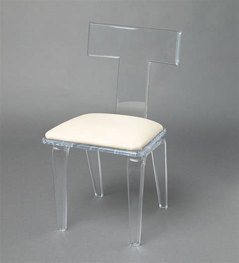 Clear Vanity Chair by Acrylic Lucite Furniture Chairs Barstools Vanity Stool