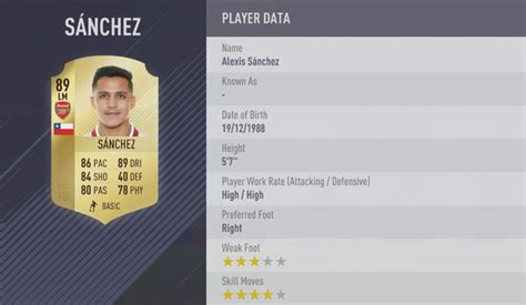 alexis sanchez or martial fifa 18 fifa 18 ratings ea sports reveal 20 11 best players with