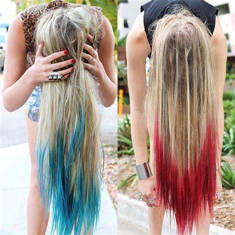 dye bottom hair tips still in style lifestyle dip dye