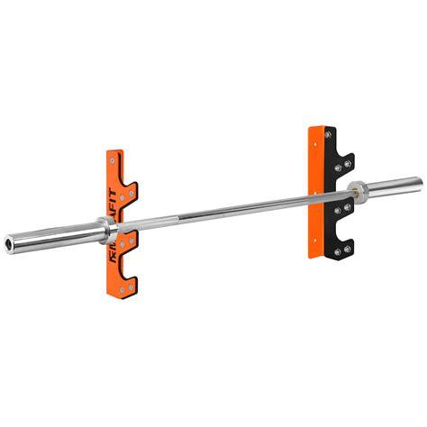 mirafit  barbell wall mount rack gym weight lifting bar