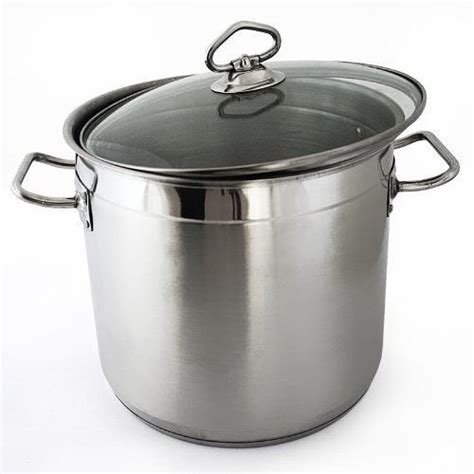 large induction stock pot large stainless steel cooking stock pot casserole glass lid induction base ebay