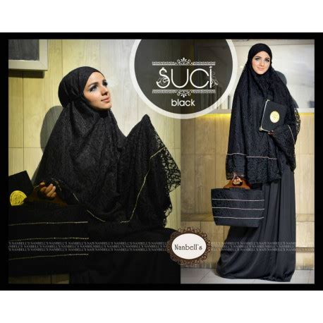 Mukena Akar Tas suci 3 black baju muslim gamis modern