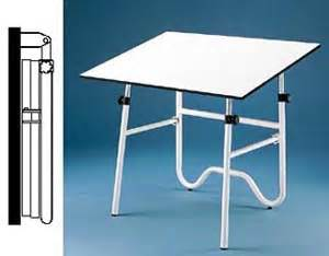 Fold Away Drafting Table Alvin Onyx Fold Away Drafting Table