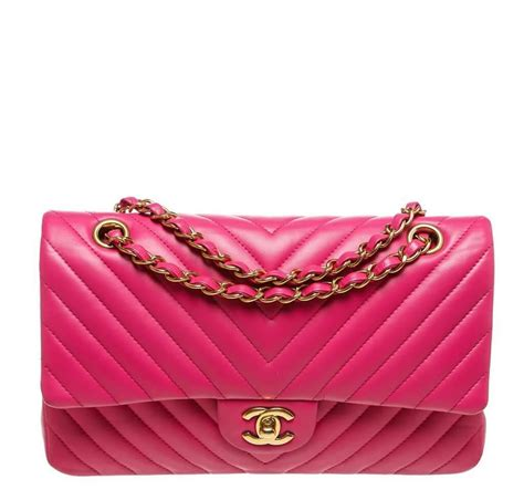 Chanel Anak Pink K chanel classic medium flap bag pink chevron leather baghunter