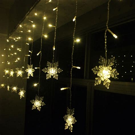 led snowflake light string christmas wedding curtain