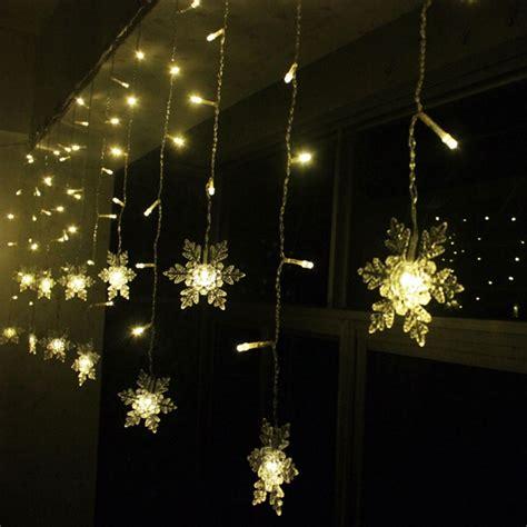 led snowflake light string christmas wedding curtain