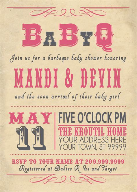Co Ed Baby Shower Wording by Coed Baby Shower Bbq Invitation Wording Infoinvitation Co