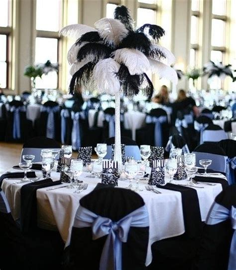 black and white theme decorations themed prop hire from entertainments