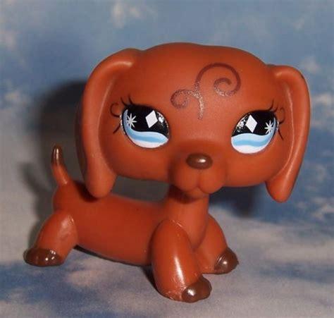 lps wiener dogs littlest pet shop lps 640 fanciest swirl brown dachshund wiener puppy white