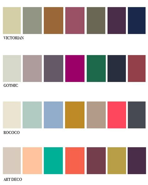 muted color palette scheming