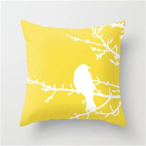 yellow bed pillows modern throw pillows modern throws and yellow birds on