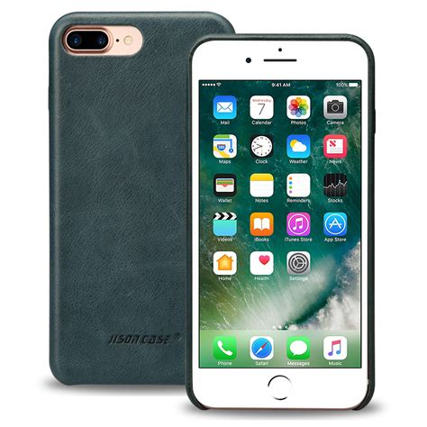 Hp Iphone 5 Inch jisoncase genuine leather for iphone 7 plus 5 5 inch slim protective cover for iphone 7