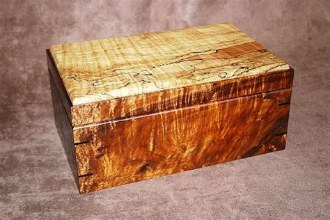 Handmade Humidors - handmade figured koa spalted maple humidor by carolina