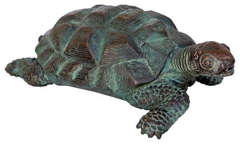 Garden Turtle by Traipsing Turtle Bronze Garden Statue Tropical Garden