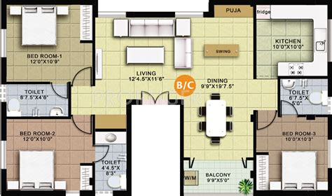 grid floor plans 1350 sq ft 3 bhk 3t apartment for sale in grid mayoor mogappair chennai