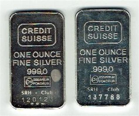 Credit Suisse 2 credit suisse 2 x troy ounce silver bar catawiki