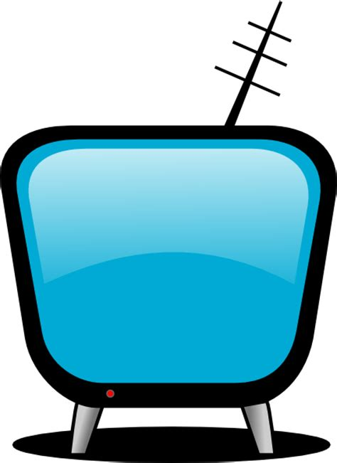 Blue Outline On Tv by Comic Tv Clip At Clker Vector Clip Royalty Free Domain