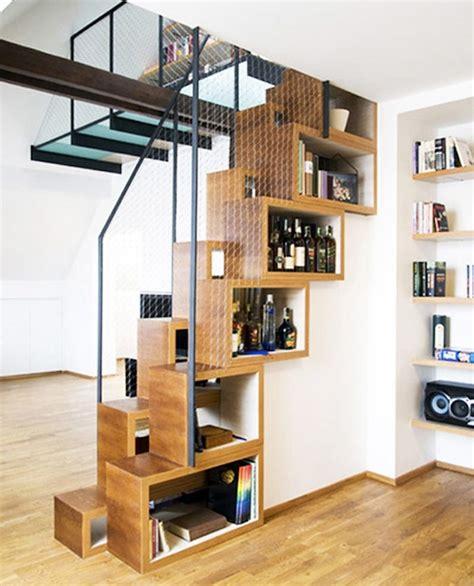 Bibliotheque De Separation by Etagere De Separation En Bois Escalier