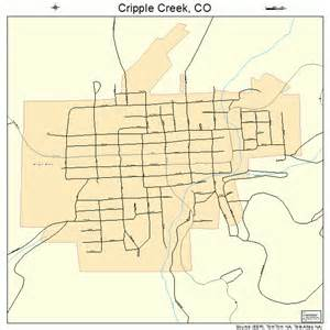 cripple creek colorado map 0818530