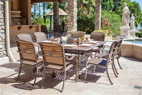 Patio Furniture With Pit 13pc Outdoor Pit Dining Chaise Lounge Set Wicker
