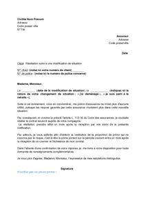 modele lettre resiliation mutuelle cause deces document