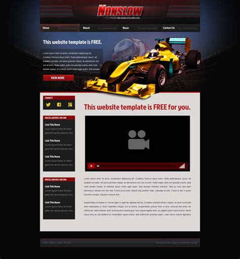 motorsport templates car racing website template free website templates