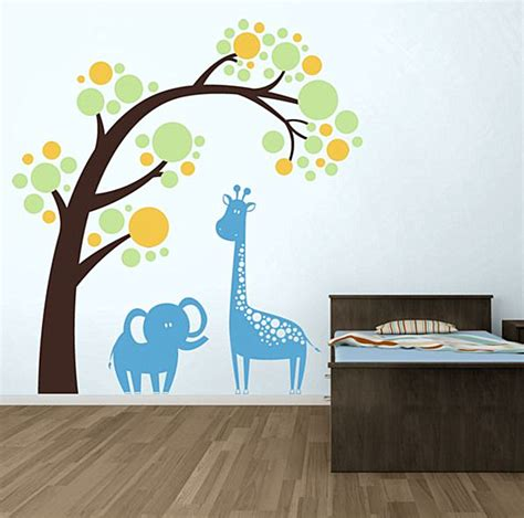 Nursery Wall Decals Animals Nursery Wall Decals With Modern Flair