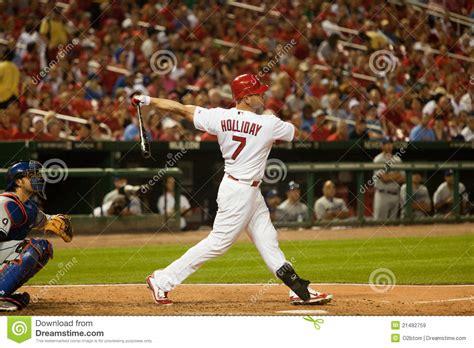matt holliday swing matt holliday powerful swing editorial stock image image