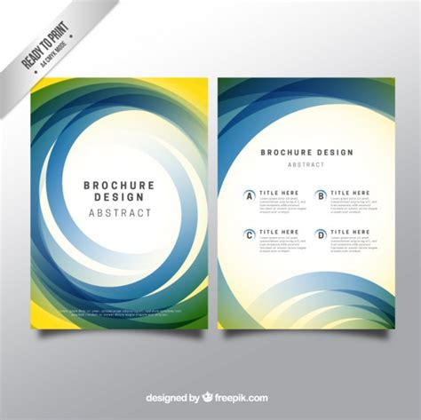 brochure template with abstract circles vector premium