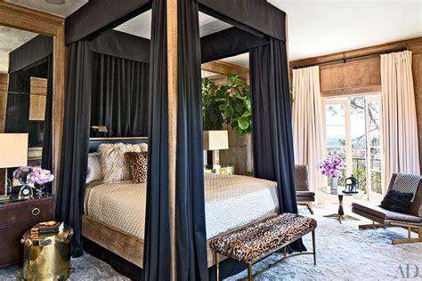 Four Poster Canopy Bed Curtains celebrity homes ellen pompeo s los angeles villa