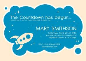 Space Baby Shower Invitations by Outer Space Baby Shower Invitation Space Baby Shower