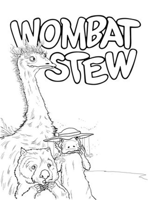 cranky bear coloring pages emu platypus and wombat coloring page books for kids