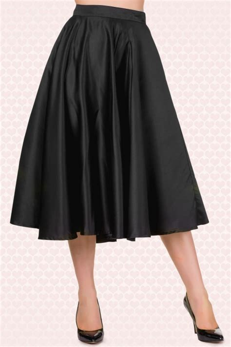 Skirt The Typical Day Swing The Usual Days Pv 0117015 50s grace swing skirt in black