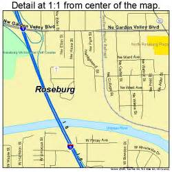 roseburg oregon map 4163650