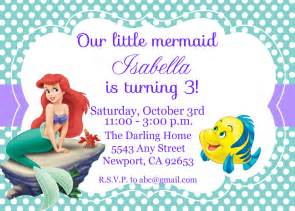 little mermaid birthday invitations free printables