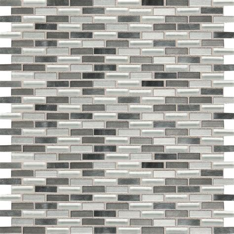 daltile fashion accents nickel blend 12 in x 12 in glass